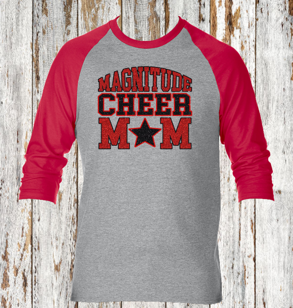 Magnitude Cheer Mom Baseball Tee