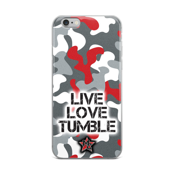 Live Love Tumble Camo iPhone Case
