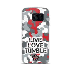 Live Love Tumble Camo Samsung Case