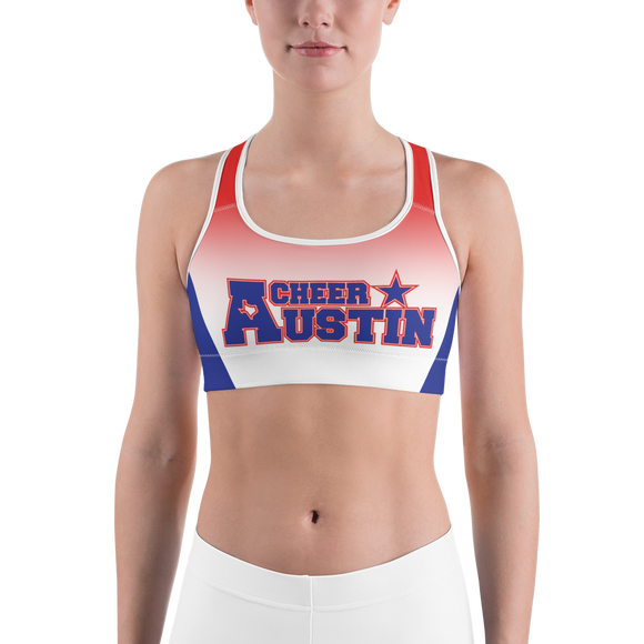 Cheer Austin Colorblock Sports Bra