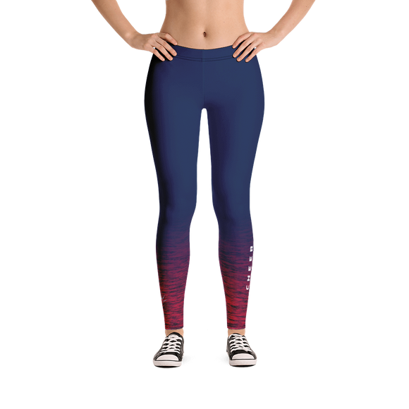 Cheer New York Women's Space Dye Full Length Leggings