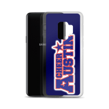 Navy Cheer Austin Samsung Case