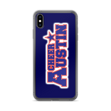 Navy Cheer Austin iPhone Case
