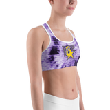 2020 Purple Tie Dye Sports bra