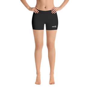 *Women's Solid Black Shorts*