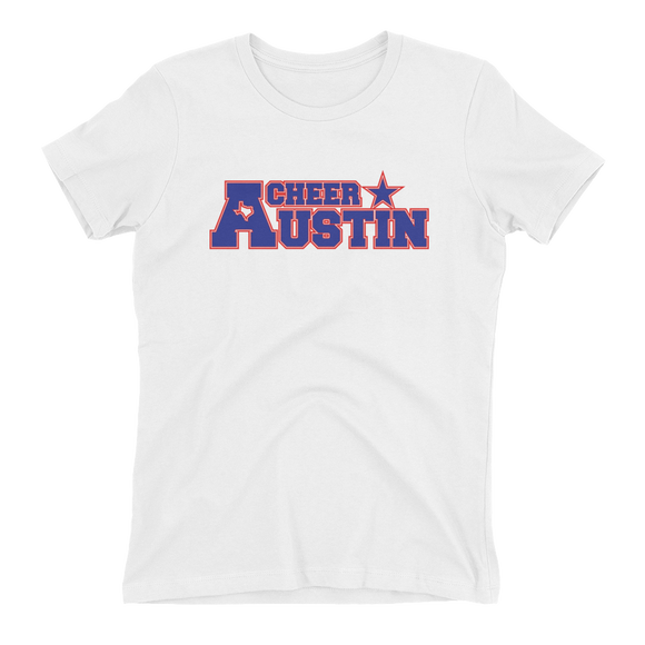 Cheer Austin Ladies' The Boyfriend Tee