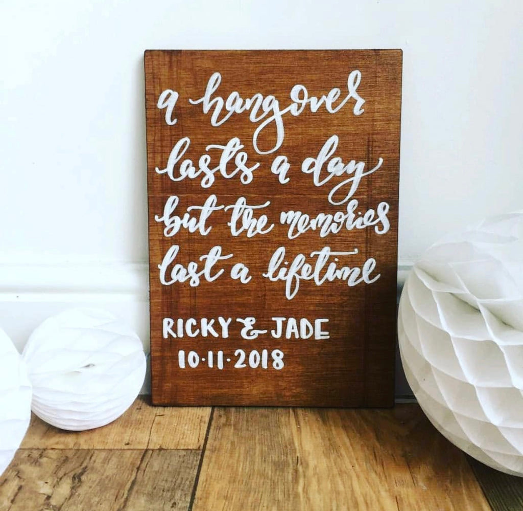 Personalised Wooden Board