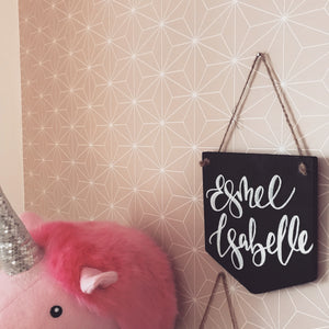 Personalised Name Hanging Chalkboard Banner