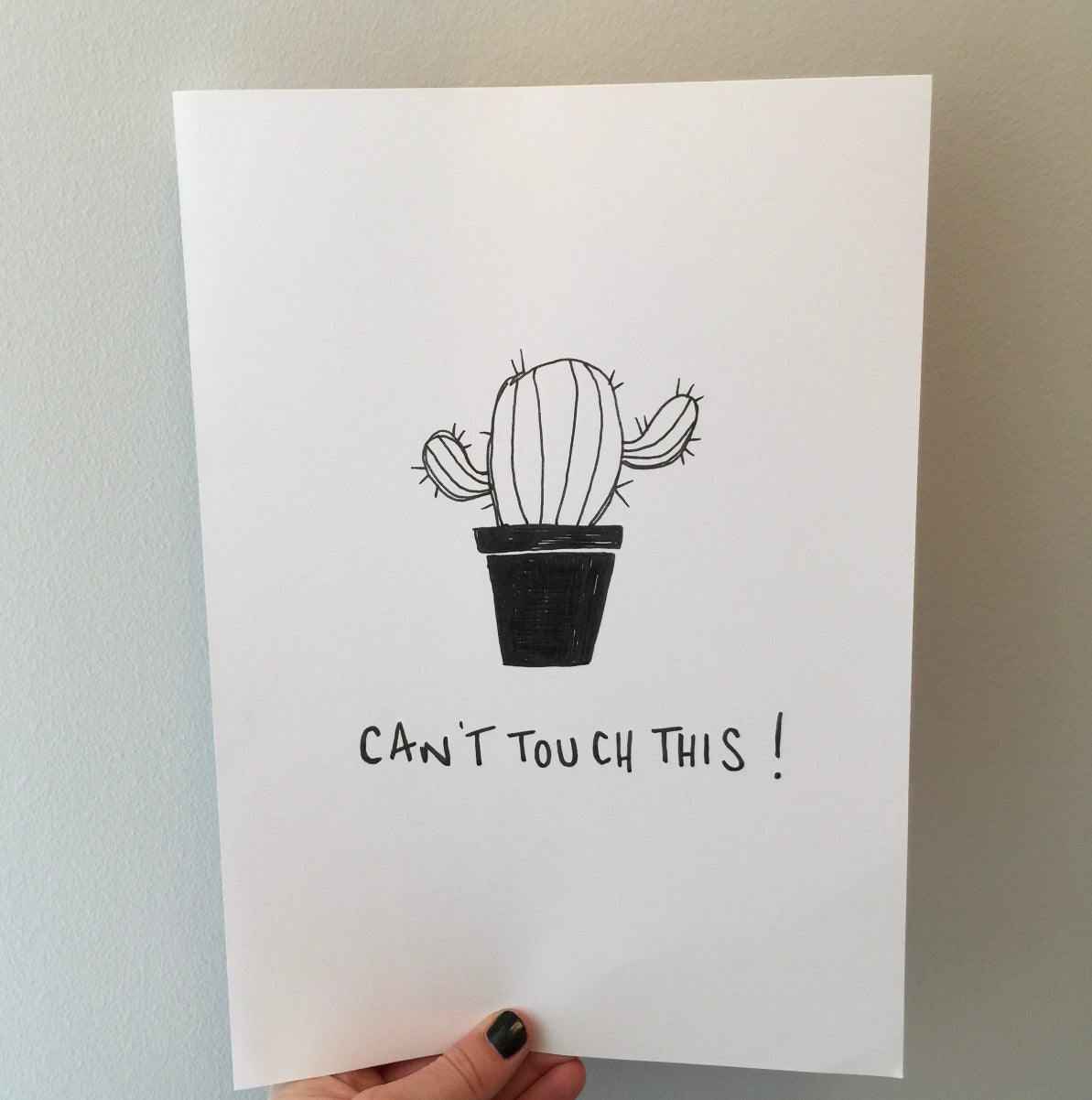 'Can't touch this' Print