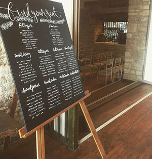 Large Personalised Chalkboard Table Plan