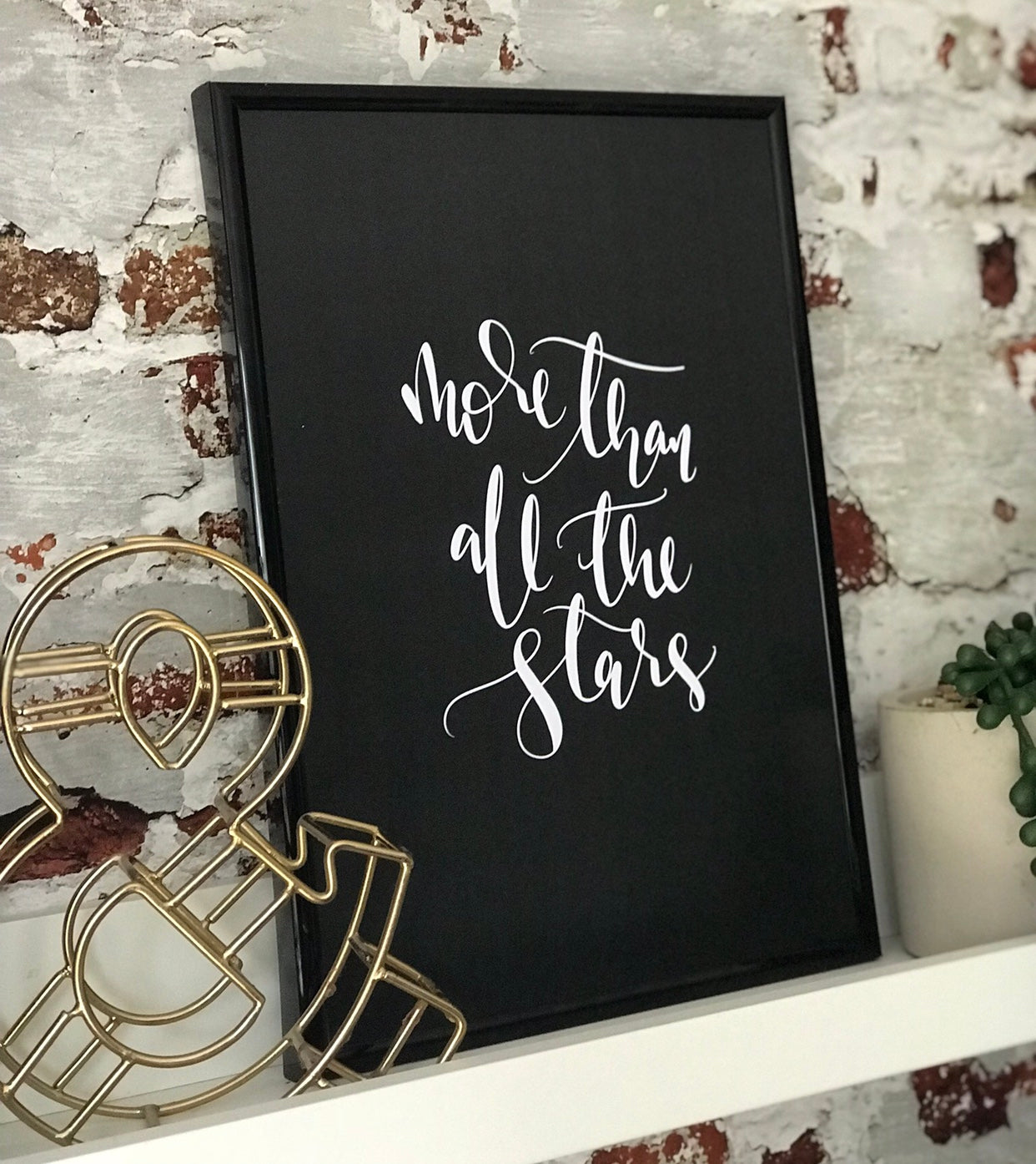 Personalised 'More than all the stars' Print