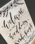 Personalised Whiewash Welcome Sign