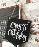 Chalkboard 'crazy cat lady' Banner