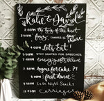 Personalised Chalkboard Order of the Day