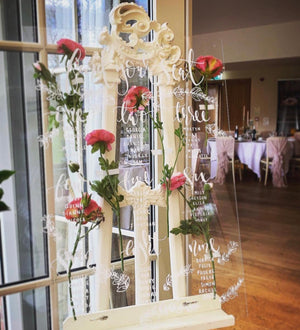 Clear Perspex Table Plan