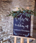 Personalised Chalkboard Wedding Welcome Sign
