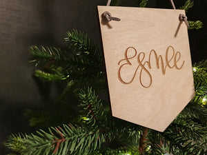 Personalised Small Wooden Engraved Banner