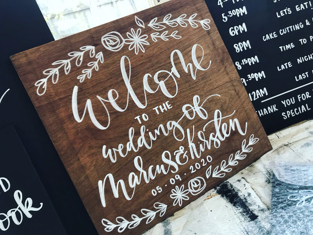 Personalised Square Welcome Sign