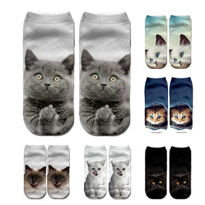 Cute Cartoon Kitten Unisex Short Socks - Pets Utopia