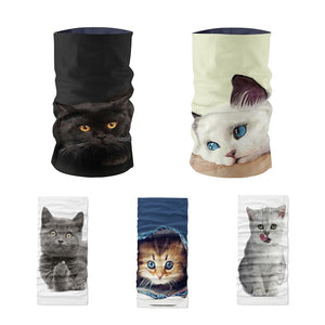 Women Headscarf Funny Animal Cat Face - Pets Utopia