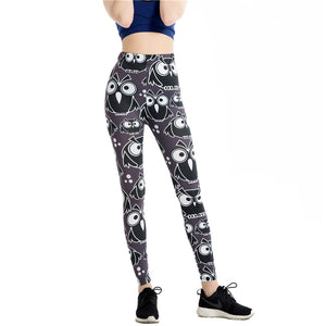 Hot Slim Black Owl Women Legging - Pets Utopia