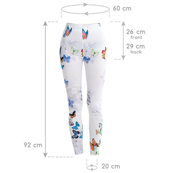 Soft Slim Butterfly Fitness Legging - Pets Utopia