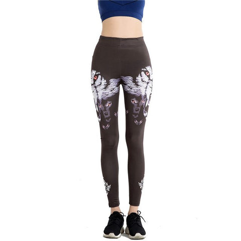 Soft Wolf Women Legging - Pets Utopia