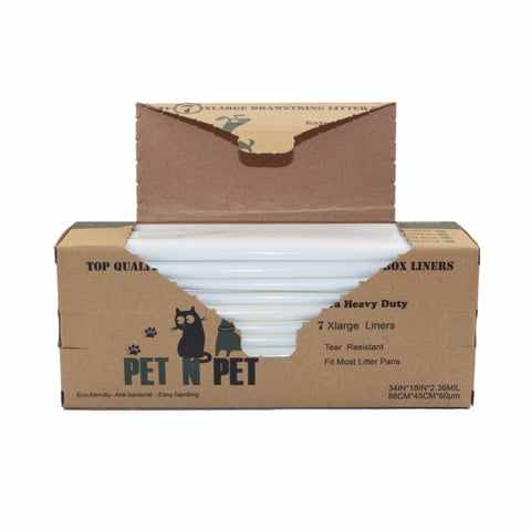 Extra Heavy Duty Cat Litter Box Liners - Pets Utopia