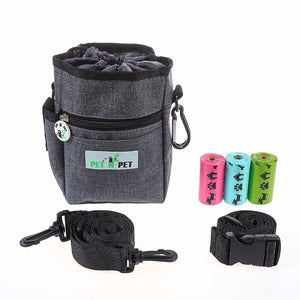 Dog Treat Training Pouch With Built-In Poop Bag Dispenser - Pets Utopia