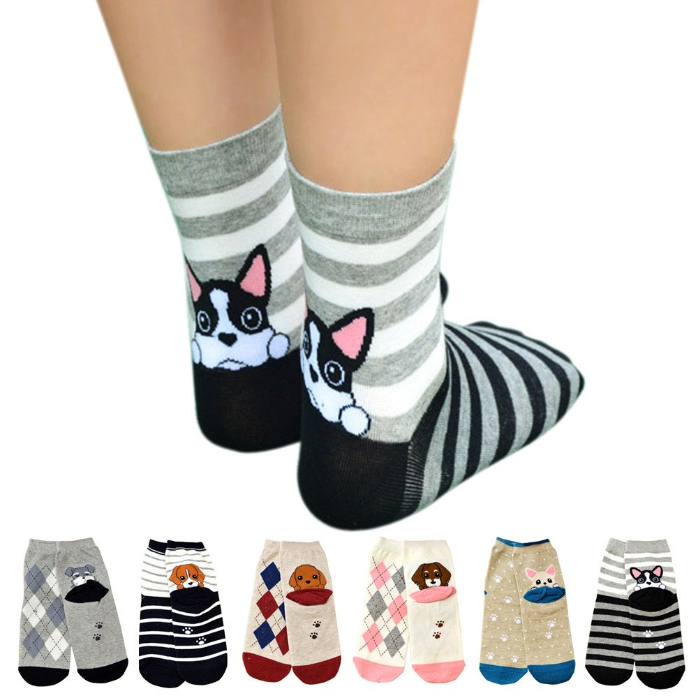 Cute Dog Striped Socks - Pets Utopia