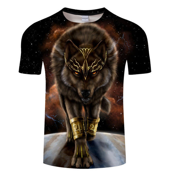 Starry Wolf T-Shirt - Pets Utopia