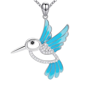 Silver Chain   Blue  bird Necklaces & Pendants - Pets Utopia