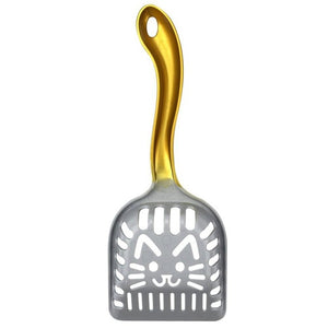 Durable Cat Litter Scoop with Cute Kitty Face - Pets Utopia