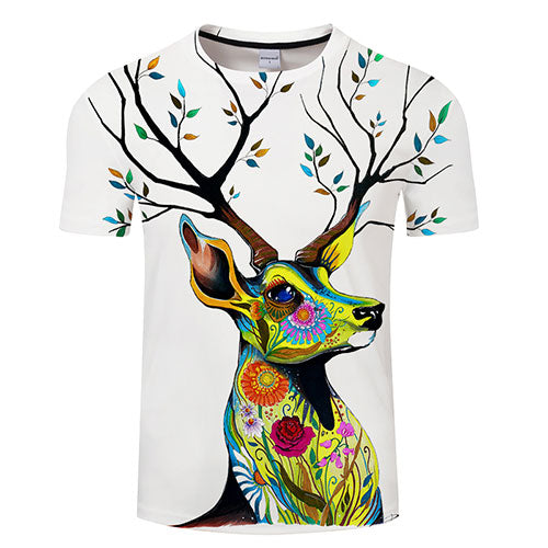 King of the Forest by Pixie Cold Art T-Shirt - Pets Utopia