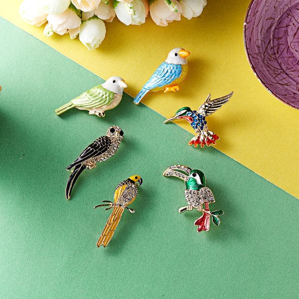 Woodpecker Dragonfly Swallow Shape Insects Brooch Pin - Pets Utopia