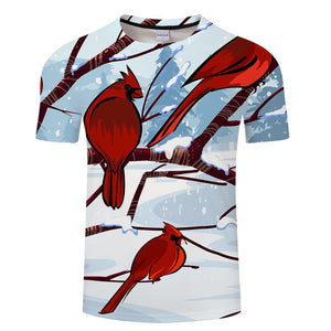 Winter Snow Bird T-Shirt - Pets Utopia
