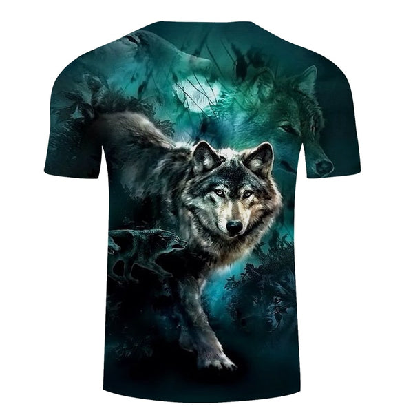 Blue Wolf T-Shirt - Pets Utopia
