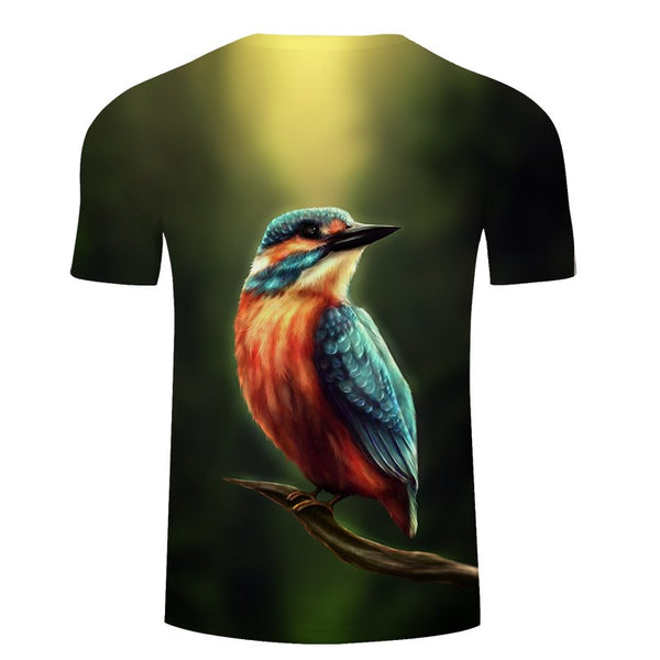 Kingfisher by Khalia Art Birds T-Shirt - Pets Utopia