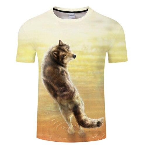 Where it all began By KhaliaArt Wolf  T-Shirt - Pets Utopia