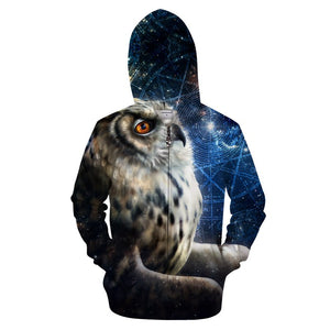 Time Traveler by KhaliaArt Zipper 3D Hoodie - Pets Utopia