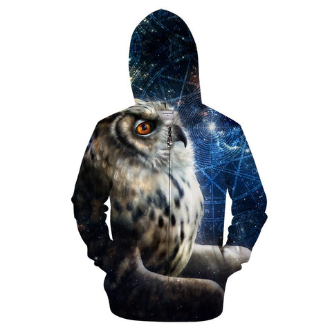 Time Traveler by KhaliaArt Zipper Hoodie - Pets Utopia