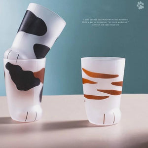 Cute Cat/Tiger Paws Glass Mug