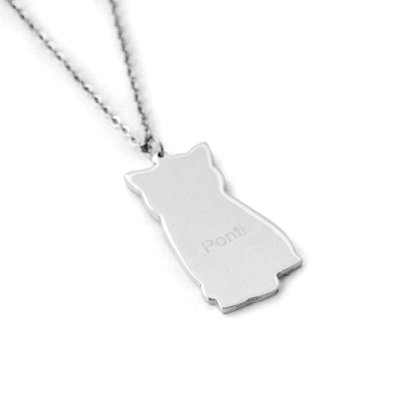 Custom Pet Photo Necklace  with Engraved Name