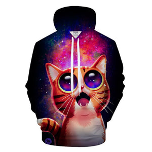 Cartoon Cat 3D Hoodies - Pets Utopia