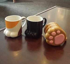Porcelain Cat Paw Mugs