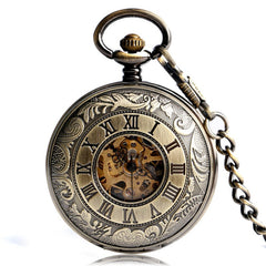 Double hunter steampunk pocket watch