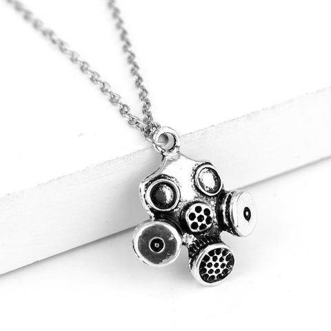 Gas Mask Steampunk Necklace