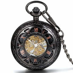 Half hunter steampunk pocket watch