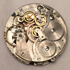exposed inside of a pocket watch