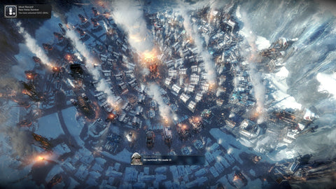 PS4 gaming console screenshot Frostpunk